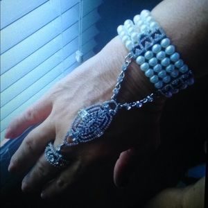 1920s inspired Bracelet and Ring combo